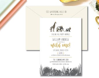 Wild One Printed Birthday Invitations | Wild One Invitation | Printed or Printable by Darby Cards