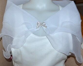 White Bridal shrug, bridal wrap, white wedding shrug, bridal cover up, wedding bolero, bridal shawl, wedding cape, wedding jacket