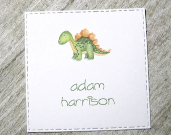 Dinosaur Personalized Enclosure Cards - Gift Cards - Calling Cards - Set of 24 - Boy - Trending - Flat - One sided - Embossed - Kids
