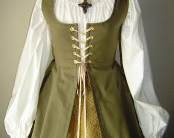 Renaissance Irish Overdress Gown in Twil - CUSTOM MADE