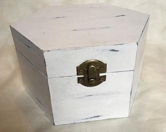Painted Hexagonal Box