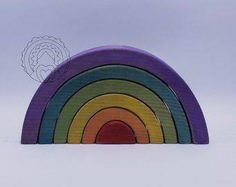 Rainbow Puzzle Stacker