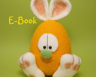 Crochet Pattern Easter Egg Bunny Hare Amigurumi Instant Download PDF 11 Pages