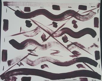 Deep Plum Sea--Original Acrylic Painting