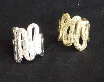 Snake ring-Silver (brass)