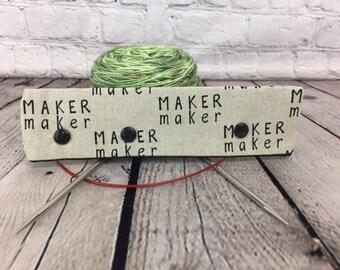 """Maker maker Needle Holder,  6-8"""" DPN Holder for Knitting, Circular Needles Holder, DPN needle holder, Circular holder, needle"""