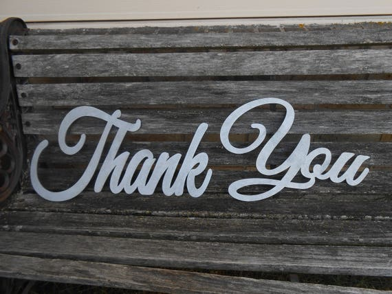 Thank You Wood Sign. CHOOSE YOUR COLOR!  Wedding, Decoration. Rustic. Custom, Personalized. Card, Photo Prop. Silver