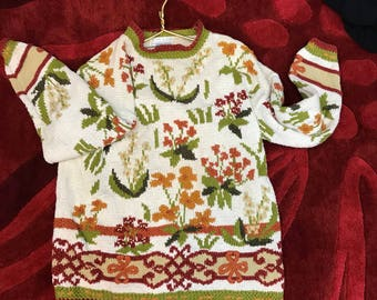 Autumn sweater vintage / Thanksgiving women's shirt