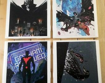 Batman Comic Book Coaster Set