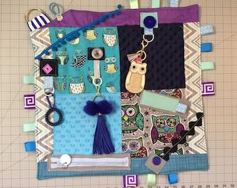 fidget quilt by theeveningproject/busy quilt/activity blanket/Alzheimer fidget quilt