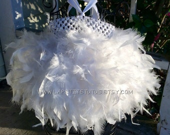 birthday tutu dress, feather tutu, flower girl tutu, flower girl dress tutu, photo prop, tutu dress, party dress, little girl dress, dress