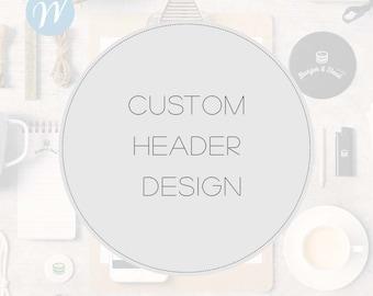 Custom Header Design, Create a Header for your Website, Banner Design