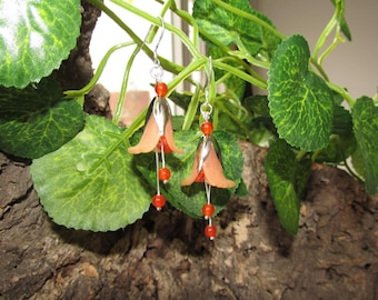 Fairy fantasy flower earrings