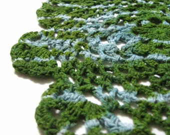 Avocado Doily - Tie Dye Crochet Gift