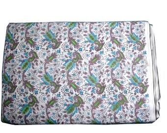 1 to 50 Yards(Print_206)Indian Block Printed 100% Cotton Printed Fabric