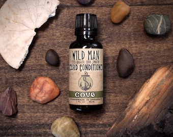 Beard Oil Conditioner - Wild Man - Cove - 30ml // 1oz - Grooming Gifts For Him