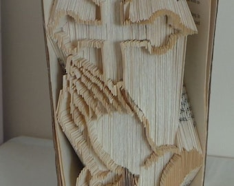 holy cross praying hands religious religion combi book folding pattern book art