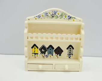 Vintage miniature furniture plate rack