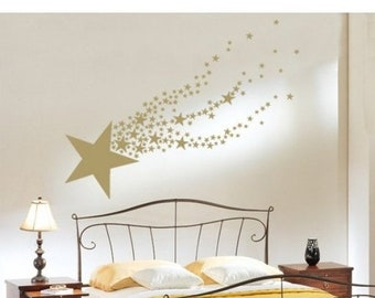 20% OFF Memorial Day Sale Shooting Star wall decal, sticker, mural, vinyl wall art