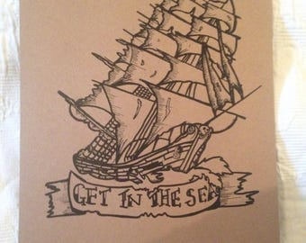 Get In The Sea Print