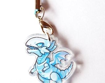 Blue Eyes White Dragon Acrylic Charm