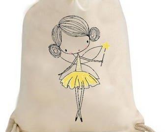 Back to school, gym, pool, gym bag / Duffel fairy