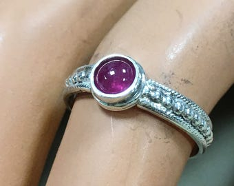 Petite Ruby Cabochon Ring
