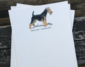 Welsh Terrier Dog Note Card Set