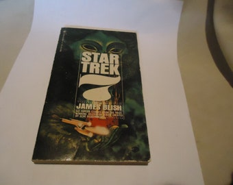 Vintage October 1972 Star Trek 7 Paperback Book by James Blish, 7th Printing, collectable