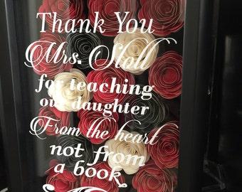 Chic roses shadow box