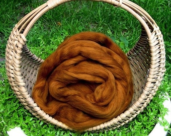 "Merino Wool Roving, ""Patina"" , 4 ounces"