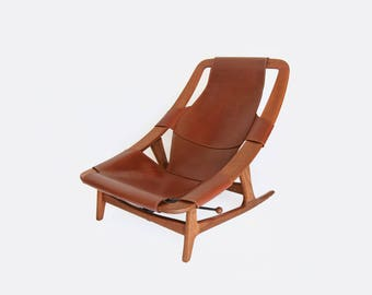 Danish Modern Holmenkollen Lounge Chair by Arne F. Tidemand Ruud