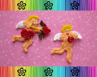 Valentine Cupid  or Angel Applique - CROCHET PATTERN