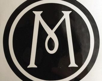 Circle Monogram Vinyl Decal / Yeti Vinyl Sticker / Car Decal
