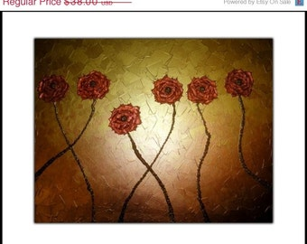 PRINT With MATTE of Gold Rose Painting Sale , Fathers Day Gift, Fathers Day Sale