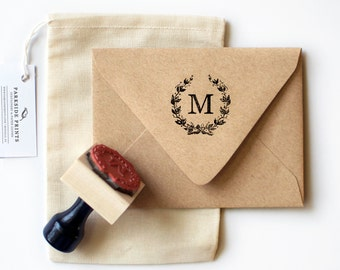 French Wreath Monogram Stamp