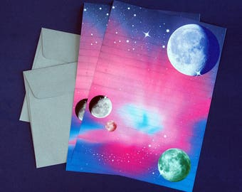 Outer Space Letter Writing Set.