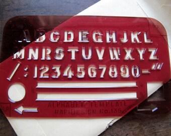 Vintage Alphabet Template Stencil 2 Lot Original packaging Rapidesign