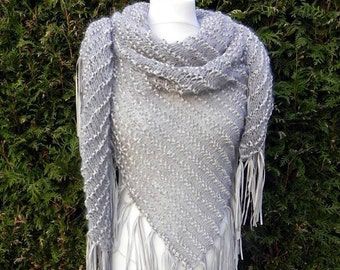 Precious Triangle scarf shoulder towel fringe leather stole