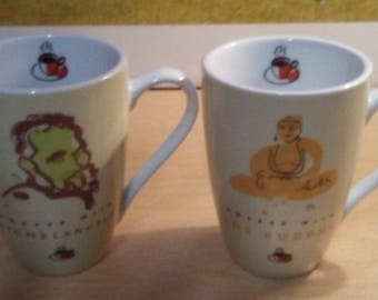 2 Collectable Barnes and Noble Coffee cups mugs