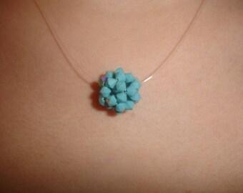turquoise swarovski pendant.