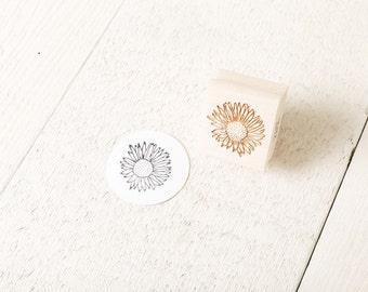 Wild Sunflower - Floral Rubber Stamp