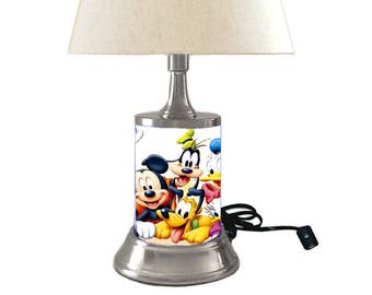 Attractive Disney Characters Lamp With Shade, Mickey Mouse, Minnie Mouse And More
