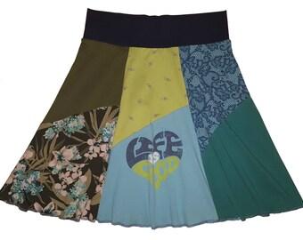 Women's Large XL Upcycled Skirt Hippie Skirt Boho recycled tie dye one of a kind lagenlook best selling item Twinkle Skirts Twinklewear