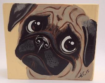 Pug - Dog Art - Dog Painting - Canine Art - Kids Room Decor - Animal Art - Pet Portrait - Animal Decor
