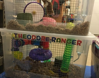 Custom hamster cages