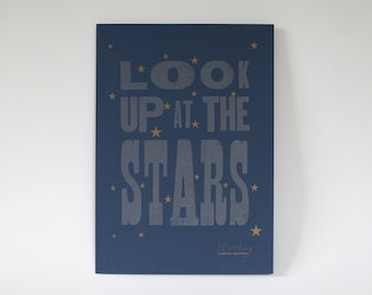 Look Up At The Stars A4 Letterpress Print