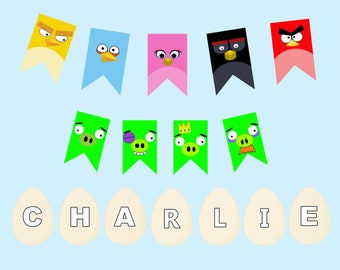 Angry Birds Printable Banner