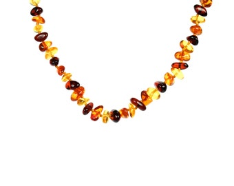 Baltic amber baby necklace - teething necklace - amber necklace - baby amber necklace - a strand of genuine baltic amber -