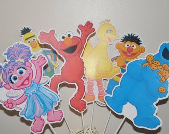 Sesame Street Large Centerpiece toppers sets of 6